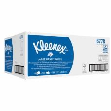 Kleenex rankų valymo servetėlės baltos, 2 sl., servetėlė 31,8x21,5 cm, pakelyje 124 vnt. Pakuotėje 15 pakelių
