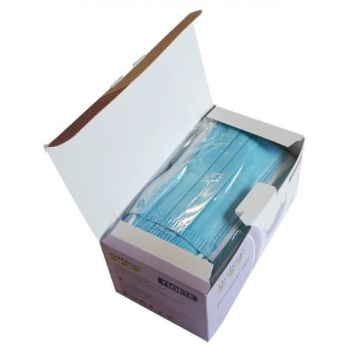 Vienkartinė medicininė veido kaukė 3 sluoksnių su gumyte (50 vnt dėžutėje)