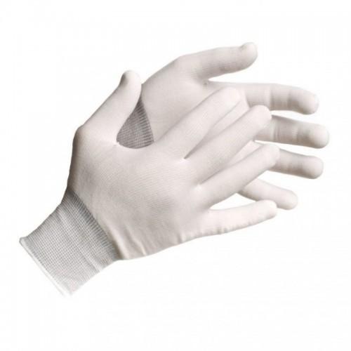 Megztos nailoninės pirštinės (12porų)