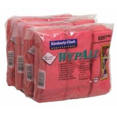 WypAll šluostė iš mikropluošto įvairiems paviršiams valyti 40x40 cm raudona spalva