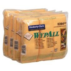 WypAll šluostė iš mikropluošto įvairiems paviršiams valyti 40x40 cm geltona spalva