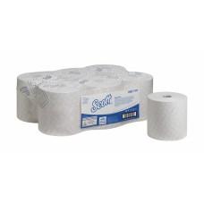 Scott Essential ruloninis rankų valymo popierius, baltas, 1 sl., rulone 1400 servetėlių, 350 m. Pakuotėje 6 vnt rulonų