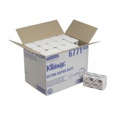 Kleenex Ultra Super Soft rankų valymo servetėlės baltos, 3 sl., servetėlė 31,5x21,5 cm, pakelyje 96 vnt. Pakuotėje 30 pakelių. 6771
