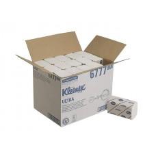 Kleenex Ultra rankų valymo servetėlės baltos, 2 sl., servetėlė 21,5x31,5 cm, pakelyje 124 vnt. Pakuotėje 30 pakelių. 6777