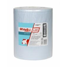 Wypall L20 Extra šluostės dideliuose rulonuose, mėlynos, 2 sl., rulone 500 servetėlių, 192,5 m