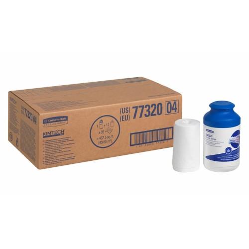 Servetėlės dezinfekavimui rulonėliuose Kimtech Wettask DS (12 rulonėlių po 35 servetėls ir hermetiškas indelis)