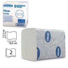 Kleenex Ultra tualetinis popierius servetėlėmis, 2 sl., servetėlė 12,5x18,6 cm, pakelyje 200 vnt. Pakuotėje 36 pakeliai