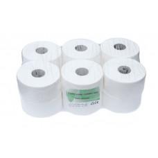 Jumbo tualetinis popierius rulonais, baltas, 2 sl. 150 m. Pakuotėje 12 vnt rulonų