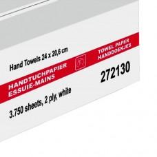 Wepa rankų valymo servetėlės baltos, 2 sl., servetėlė 20,6x32 cm, pakelyje 120 vnt. Pakuotėje 25 pakeliai. LPCB2120