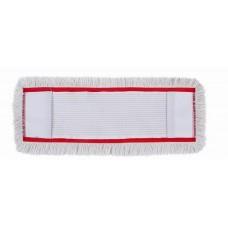 HUNT Medvilninė kilpinė grindų valymo šluostė su kišenėmis, 40 cm, raudonu apvadu