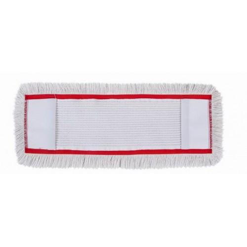 HUNT Medvilninė kilpinė grindų valymo šluostė su kišenėmis, 50 cm, raudonu apvadu