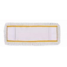 HUNT Medvilninė kilpinė grindų valymo šluostė su kišenėmis, 40 cm,  geltonu apvadu