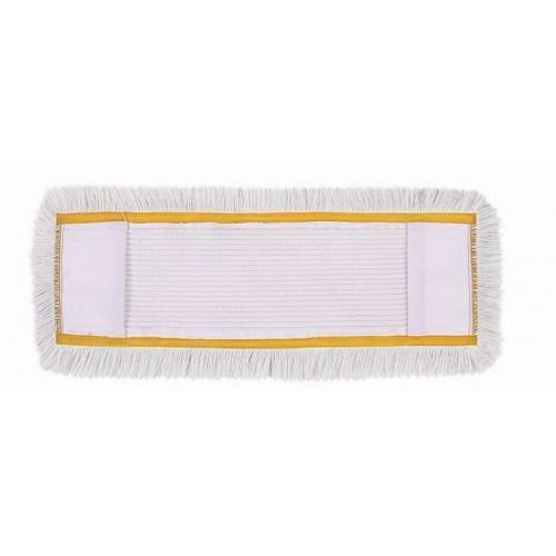 HUNT Medvilninė kilpinė grindų valymo šluostė su kišenėmis, 50 cm,  geltonu apvadu