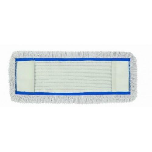 HUNT Medvilninė kilpinė grindų valymo šluostė su kišenėmis, 40 cm, mėlynu apvadu