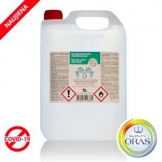 ORAS gelinis rankų dezinfekantas DSC gel hand sanitizer 5L
