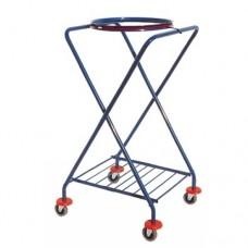 """Šiukšlių surinkimo vežimėlis ant ratukų """"X"""" formos"""