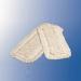 Vileda, Contract grindų šluostė. Kilpelinė medžiaga. Iš medvilnės ir poliesterio. Su kišenėmis ir atvartais. Balta. Supakuota po 1