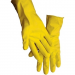 Rubber gloves. Yellow.